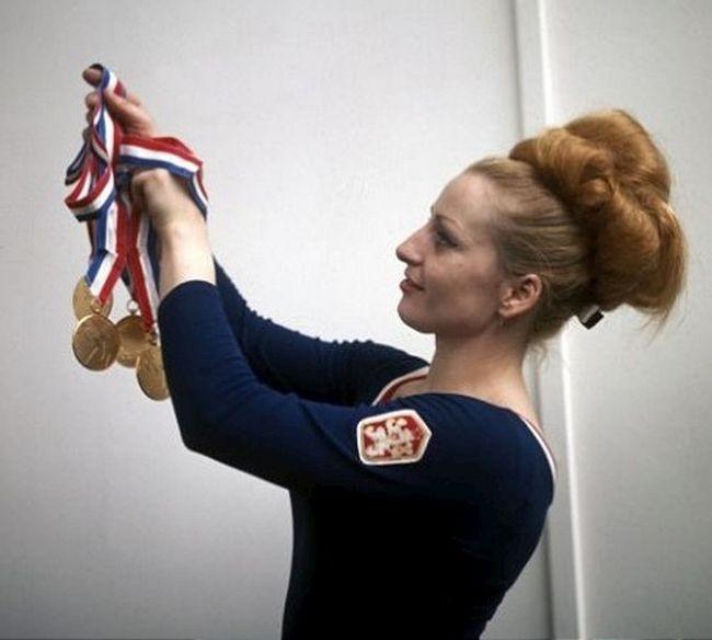 Vera Caslavska won seven Olympic gold medals during her career ©Czech Gymnastics Federation