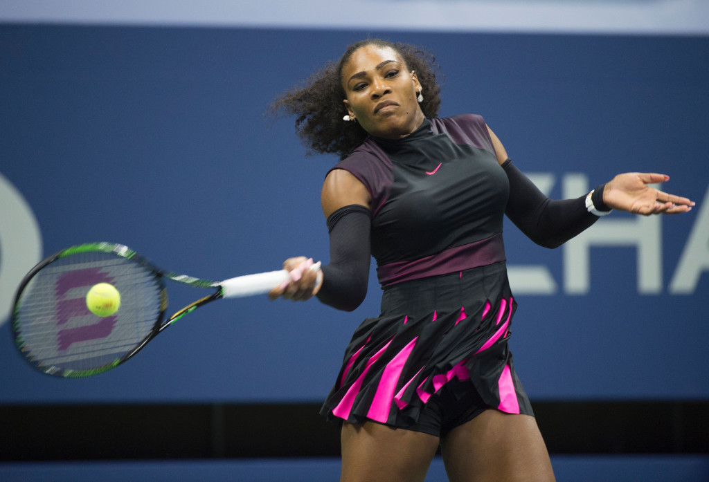Serena Williams won her 306th Grand Slam match to equal the record of Martina Navratilova ©Getty Images