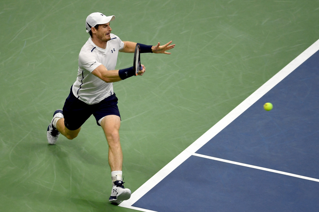 Britain's Olympic champion Andy Murray safely progressed to round three of the US Open at Flushing Meadow in New York City with victory over Spaniard Marcel Granollers ©Getty Images