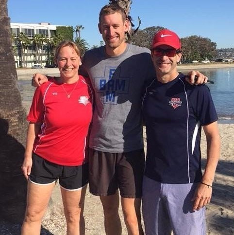 Christine Palmquist (left), Wesley Johnson (centre) and Mark Sortino (right) have been given coaching roles ©USA Triathlon