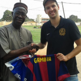 Barcelona shirt signed by Messi presented to Gambian National Olympic Committee