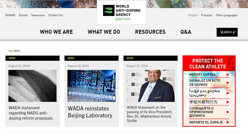 WADA website subjected to series of recent hackings, director general claims