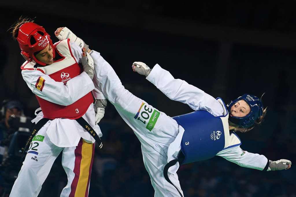 Britain's Jade Jones secured her second consecutive Olympic gold medal by beating Spain's Eva Calvo Gomez at Rio 2016 and is now targetting a hat-trick at Tokyo 2020 ©Getty Images