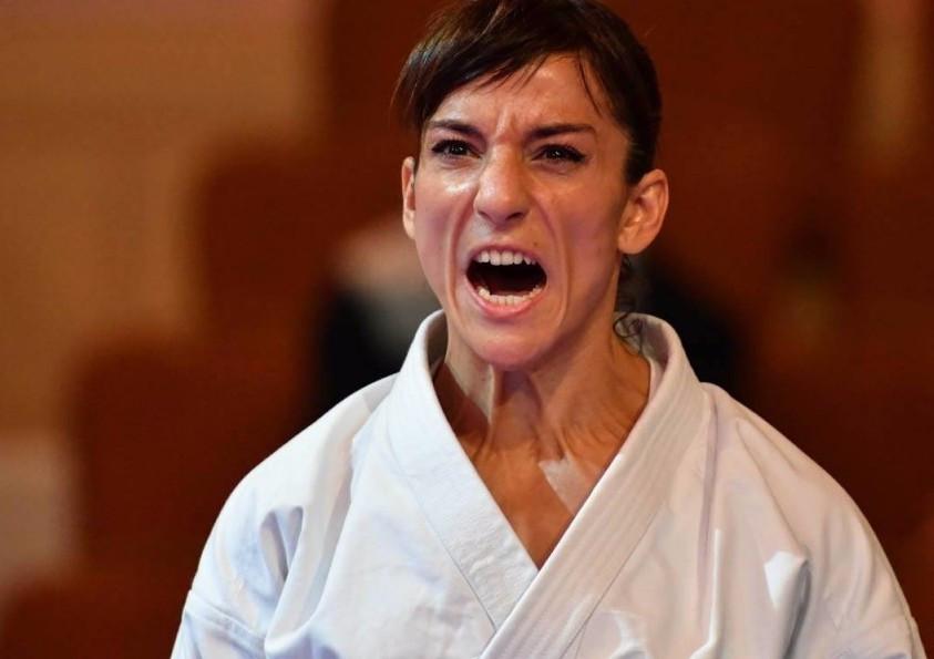 Spaniard Sandra Sanchez Jaime topped the podium in the women's kata event ©Xavier Servolle/WKF