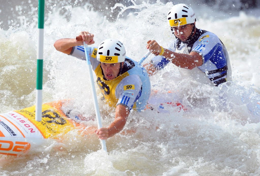 Slovakia's Škantár cousins show C2 dominance again at ICF Canoe Slalom World Cup