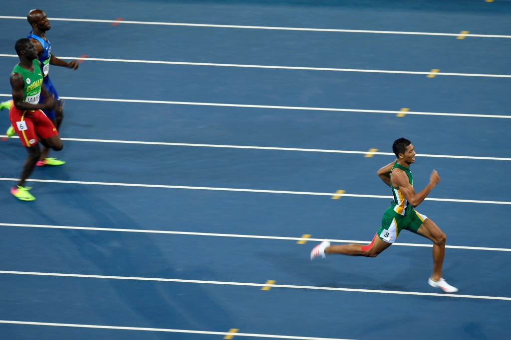 Wayde van Niekerk's world record breaking run in the 400m was hailed as one of the African performances of the Games ©Getty Images