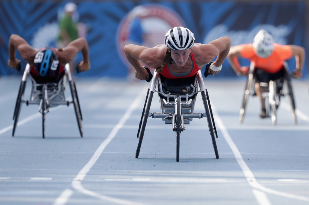 American wheelchair racer Tatyana McFadden officially began the #FillTheSeats campaign by making a donation ©Getty Images