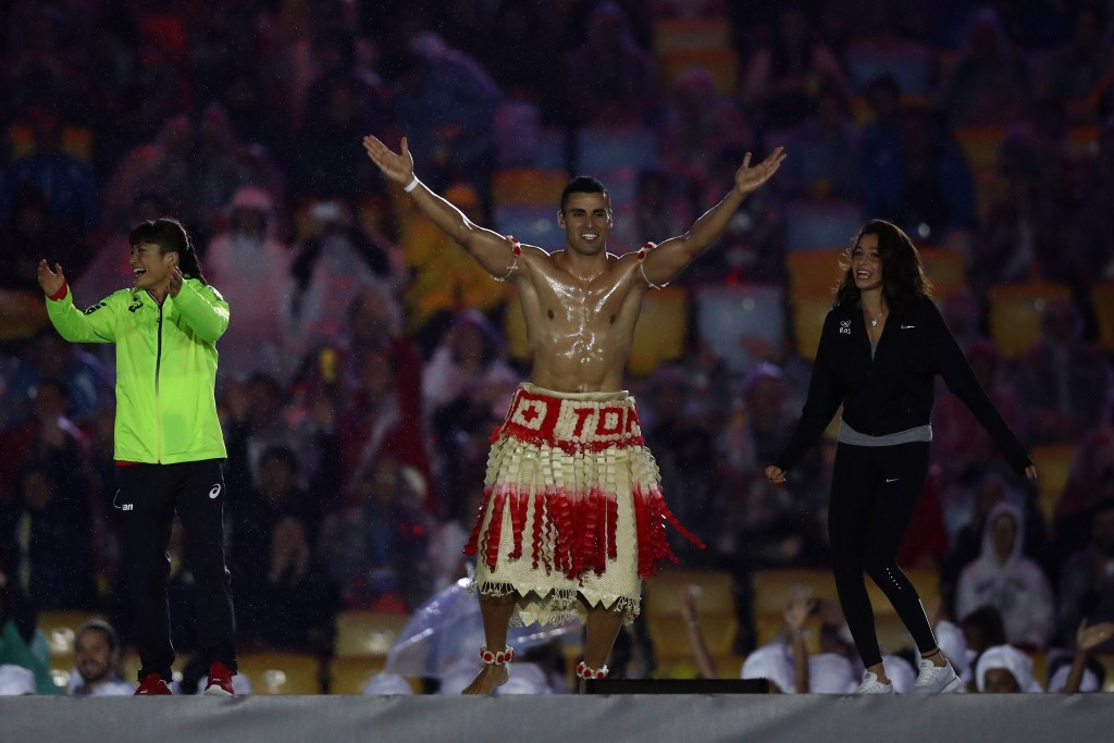 Pita Nikolas Taufatofua proved a sensation in the Opening and Closing Ceremonies ©Getty Images