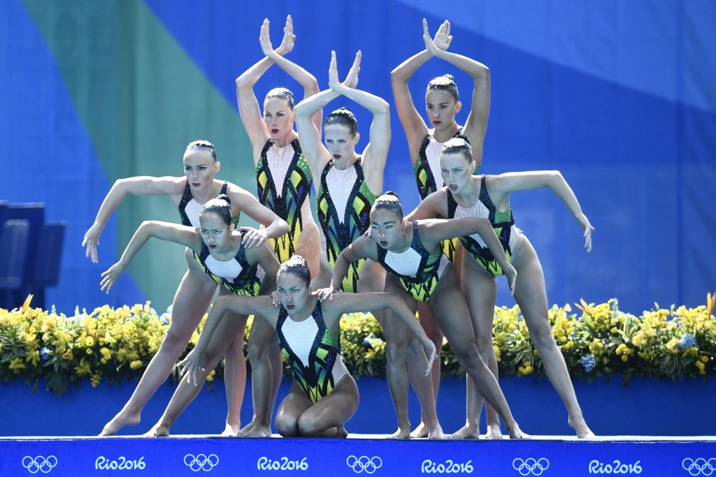 Australia's synchronised swimming team finished eighth at Rio 2016 ©Getty Images