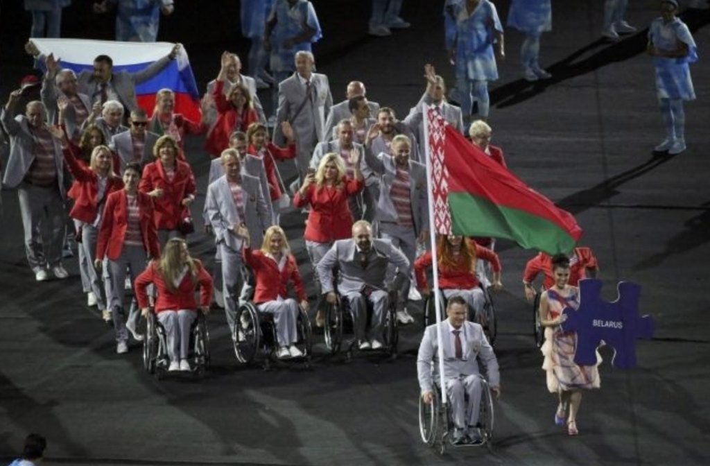 Belarusian who carried Russian flag during Opening Ceremony stripped of accreditation