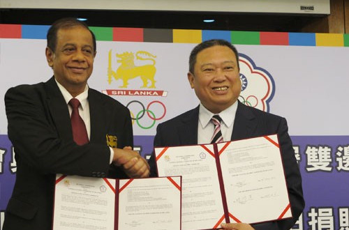 Equipment donated following agreement between Chinese Taipei and Sri Lankan National Olympic Committees