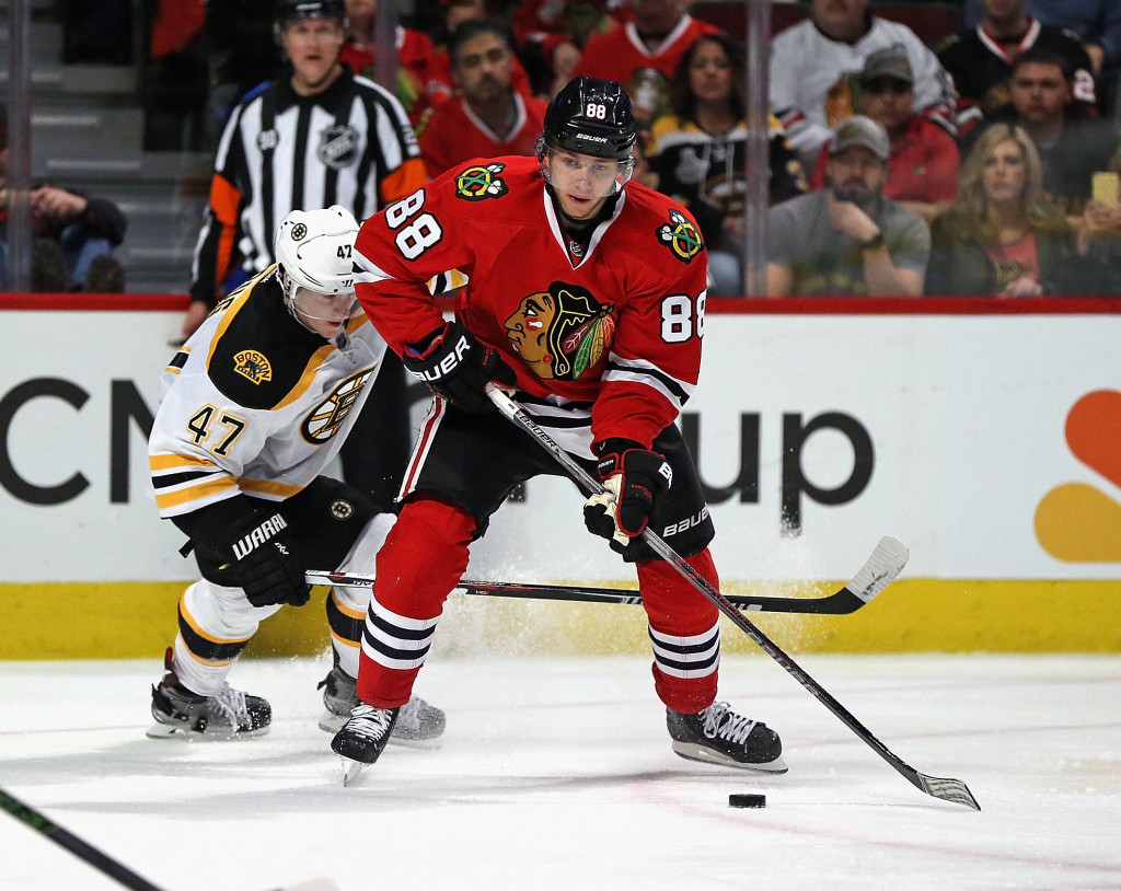 Patrick Kane of the Chicago Blackhawks will be one of the alternative captains for the event ©Getty Images