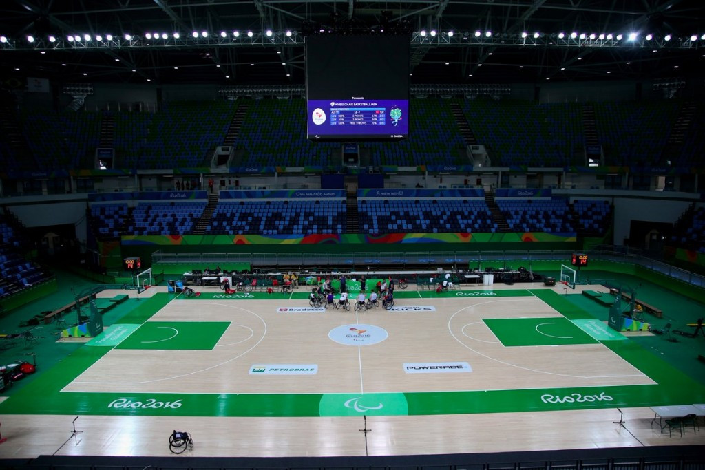 Empty seats were a feature at the Rio Olympic Arena, where wheelchair basketball action got underway yesterday on the opening day of the Paralympic Games ©C4 Paralympics/Twitter