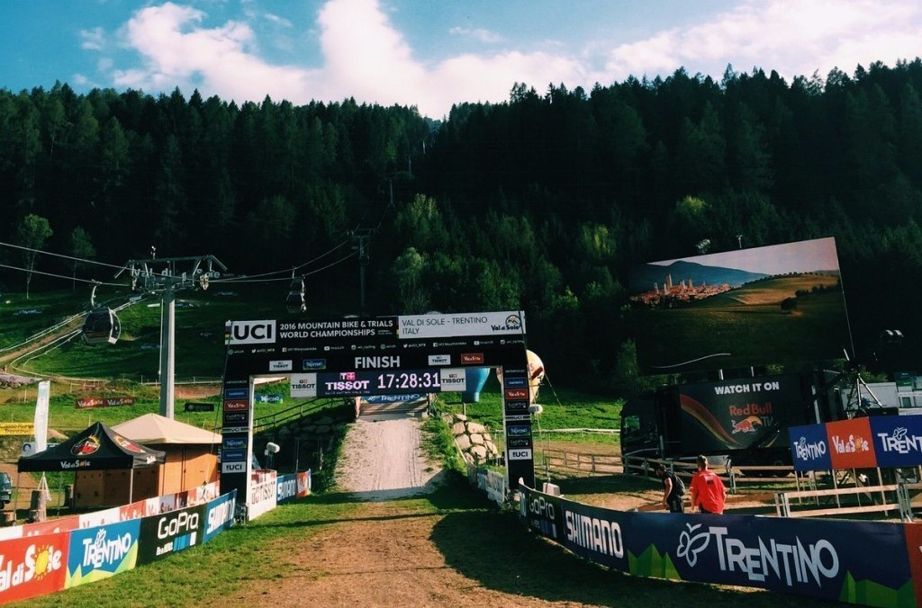 Downhill racing will take place for the next two days at the Italian venue ©Twitter/UCI MTB