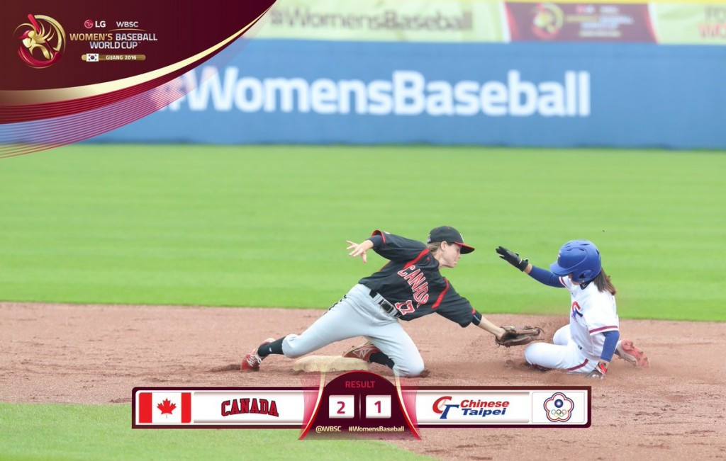 Canada overcome Chinese Taipei to reach final of Women's Baseball World Cup