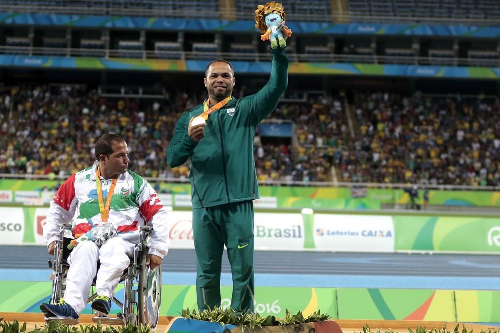 Claudiney Batista dos Santos delivered gold for the host nation in the first event on day three of athletics at the Rio 2016 Paralympics ©Getty Images