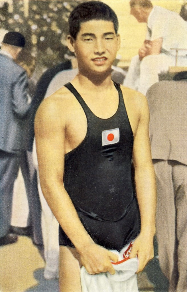 Schoolboy Yasuji Miyazaki was a Japanese swimming star at the 1932 Olympics ©Philip Barker
