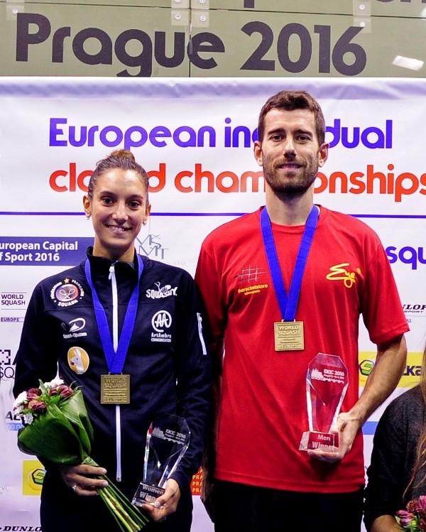 Serme and Golan seal European squash titles in Prague