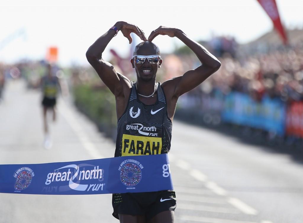 Farah becomes first man to win three consecutive Great North Run titles