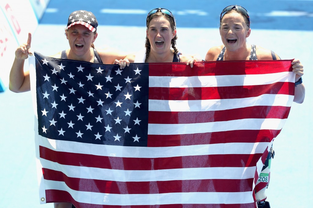 United States claim clean sweep in PT2 as women's triathlon debuts at Rio 2016 Paralympics