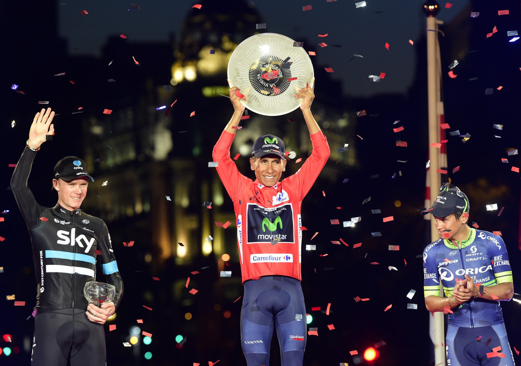 Nairo Quintana officially claimed his first Vuelta a España title ©Getty Images