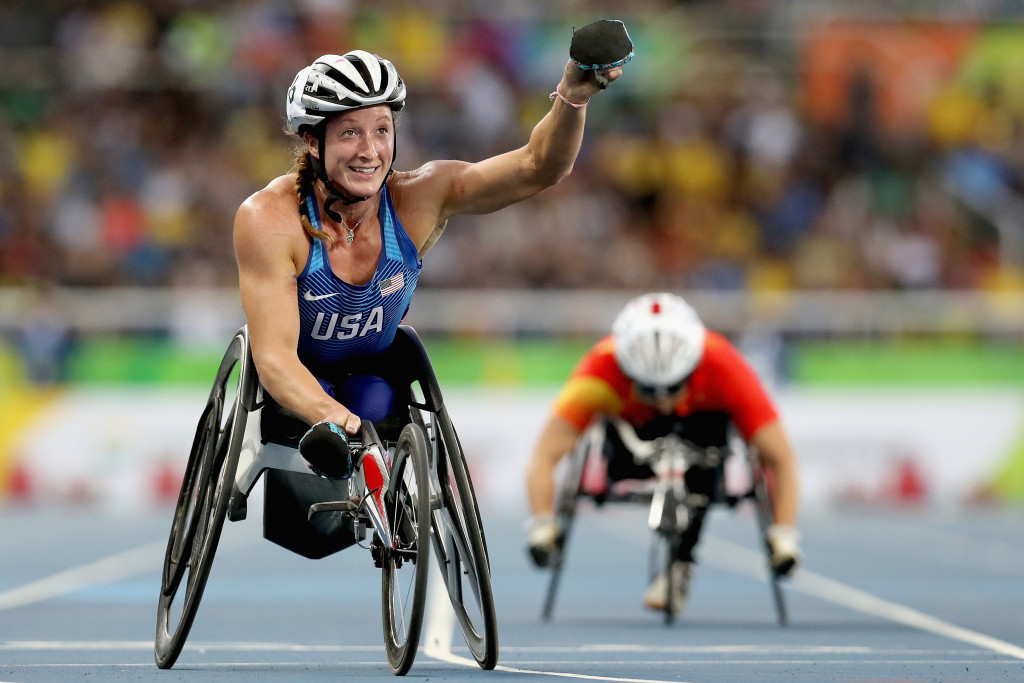 Tatyana McFadden won her first gold of the Rio 2016 Paralympic Games, but is targeting five more ©Getty Images
