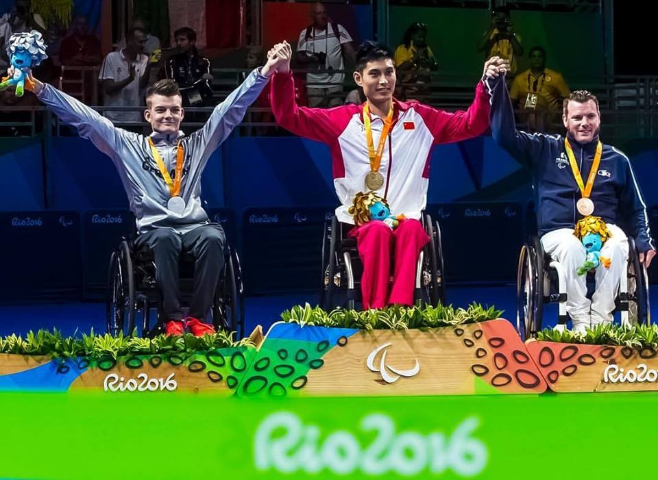 China's Feng claims third successive Paralympic crown on first day of Rio 2016 table tennis finals