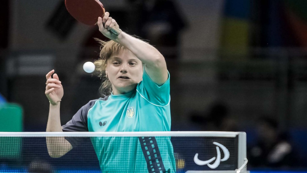 Ukraine's Natalia Kosmina won gold in the women's singles class 11 ©ITTF/Richard Kalocsai