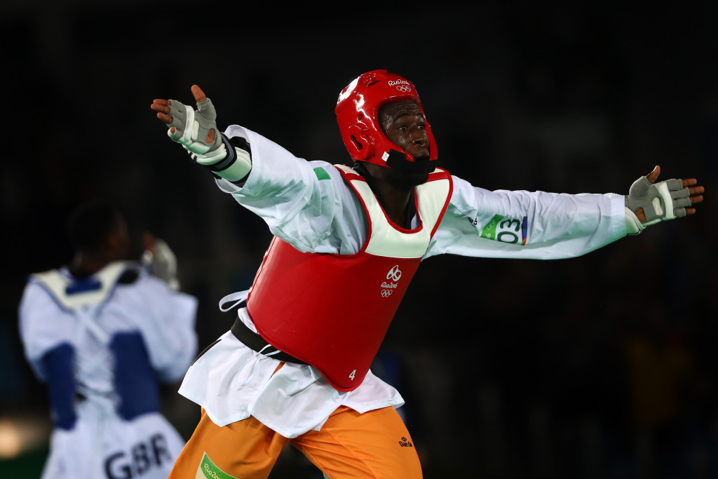 Ivorian Cheick Sallah Cissé claimed African taekwondo gold with a last second headkick in the under 80kg category ©Getty Images