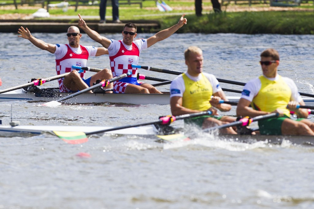 Croatia's world champion Sinkovic brothers back with a bang at Varese Rowing World Cup