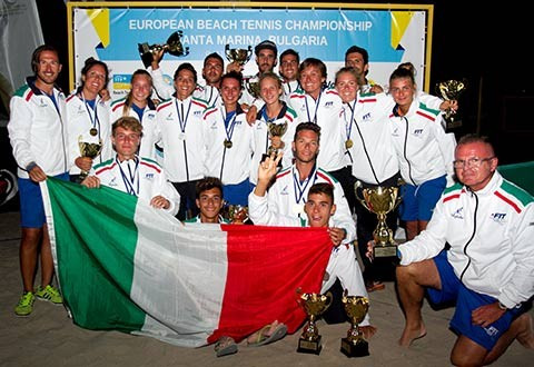 Italy complete clean sweep at European Beach Tennis Championships