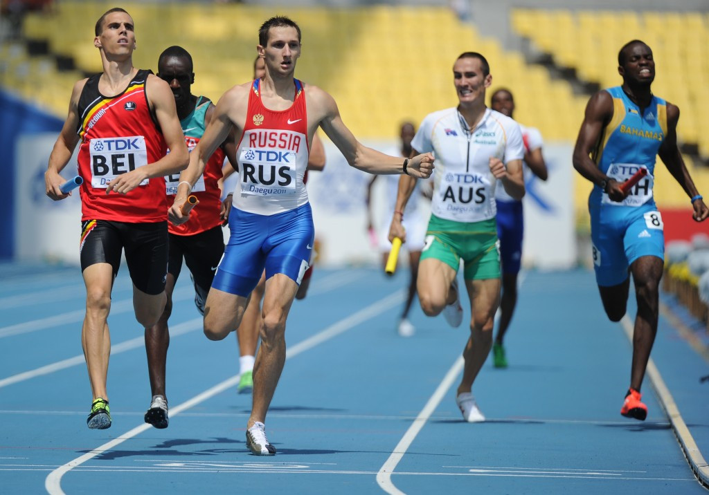 Denis Alexeev's failed test means Russia has also been ordered to return their Olympic 4x400m relay medals from Beijing 2008 ©Getty Images