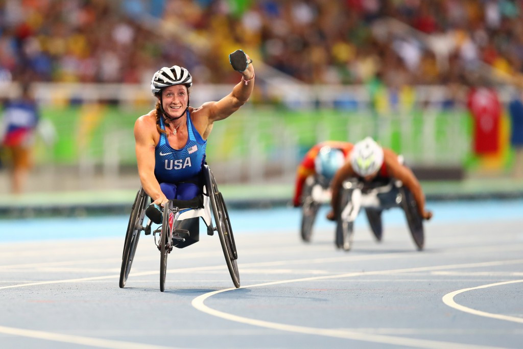Paralympic superstar Tatyana McFadden is one of three finalists in the women's category ©Getty Images