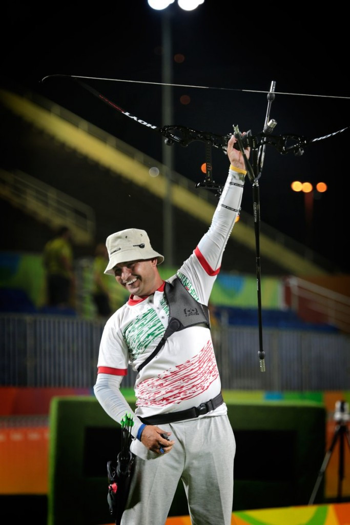 Gholamreza Rahimi of Iran shot two perfect sets as he clinched the Paralympic Games gold medal in the men's individual recurve event ©World Archery