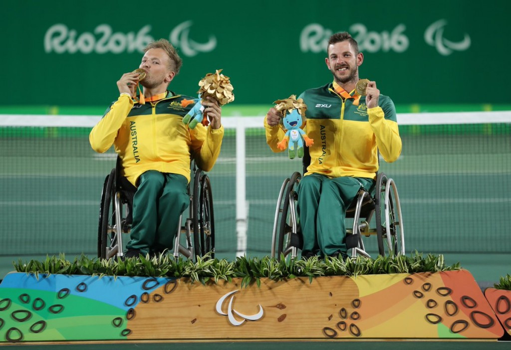 Australian duo stun defending champions to claim wheelchair tennis quad doubles gold at Rio 2016 Paralympics