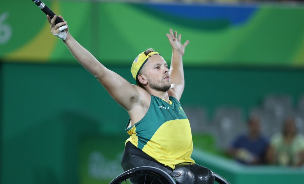 Australia's Alcott adds wheelchair tennis quad singles title to doubles crown at Rio 2016 Paralympics