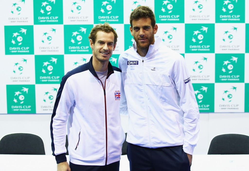 Murray to clash with Del Potro in repeat of Olympic gold medal match in first rubber of Davis Cup semi-final