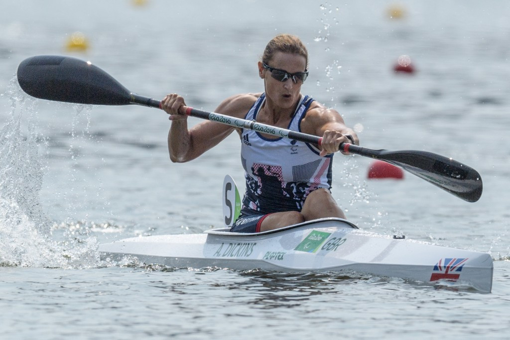 Great Britain's Anne Dickins struck gold in the women's KL3 event ©Getty Images