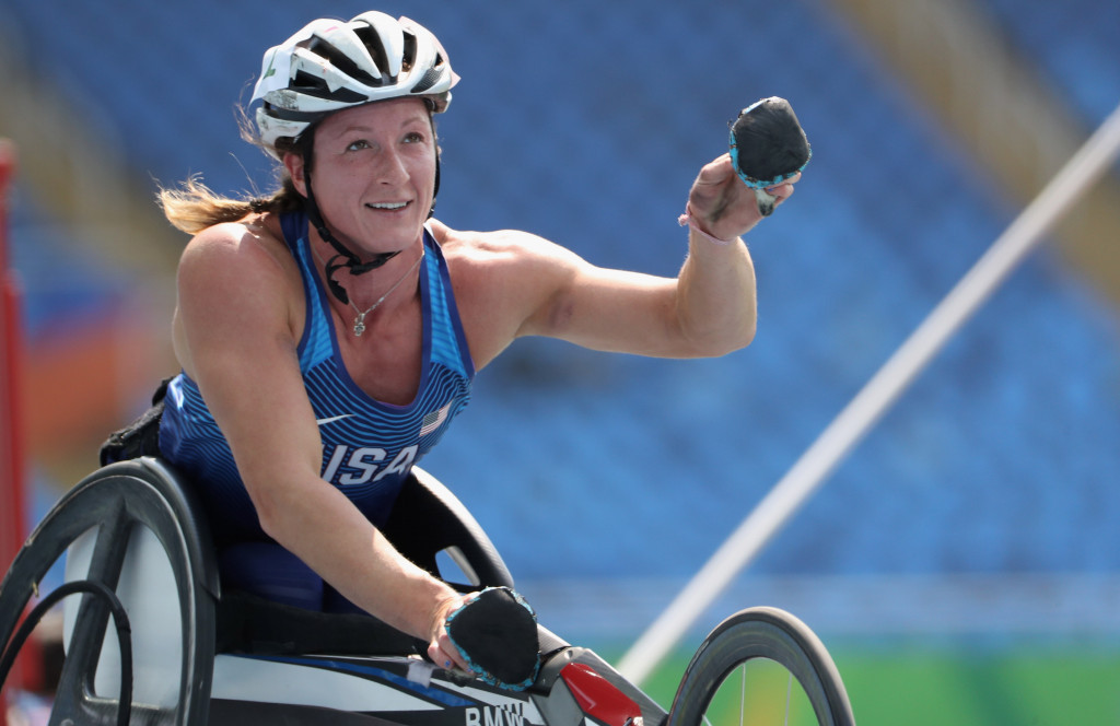 Paralympic superstar Tatyana McFadden has been selected as the women's winner of the Whang Youn Dai Achievement Award ©Getty Images