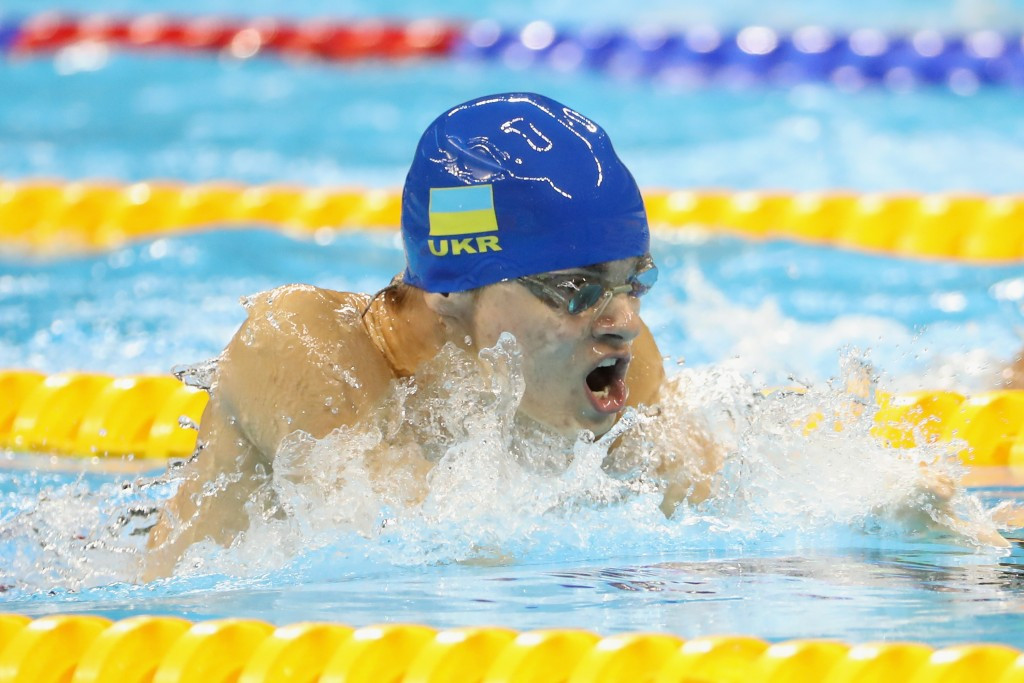 Ukraine's Ievgenii Bogodaiko lowered his own world record to claim the men's 100m breaststroke SB6 title ©Getty Images