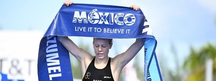 Laura Lindemann claimed a third successive world title ©ITU