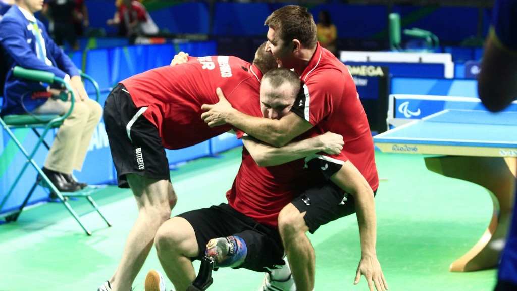 Ukraine celebrate in style on mixed day of Paralympic table tennis team finals for China at Rio 2016