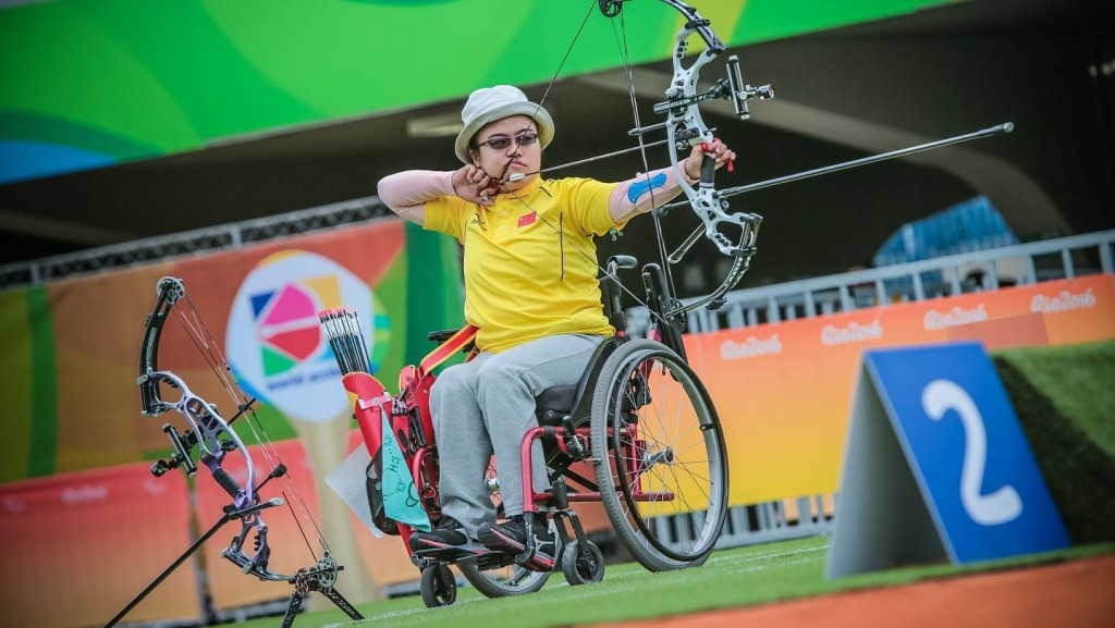 Zhou wins tense shoot-off to clinch women's individual compound gold at Rio 2016 Paralympics