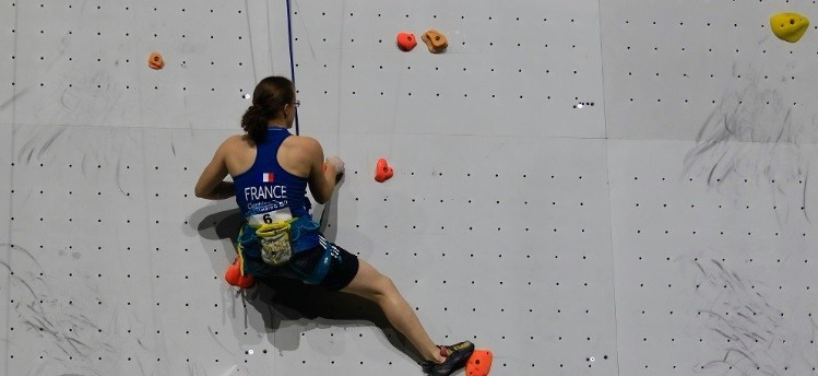 Lucie Jarrige and Romain Pagnoux delighted the home crowd as both claimed gold at the IFSC Paraclimbing World Championships ©IFSC