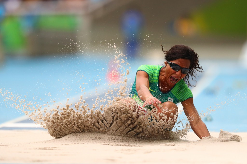 Brazil's Silvania Costa de Oliveira took gold in the women's long jump T11 competition ©Getty Images