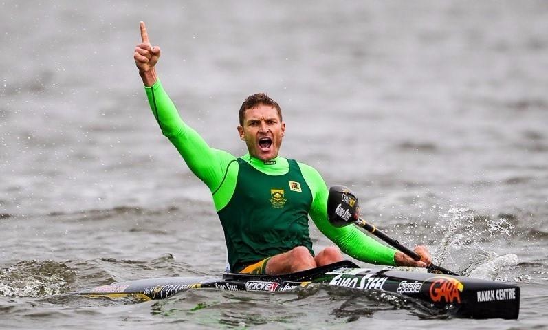 South Africa's Hank McGregor won gold in the men's K1 event ©ICF
