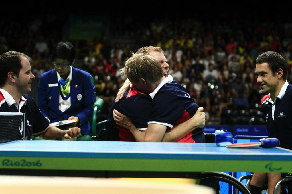 France also claimed gold today after beating South Korea in the class 1-2 event ©ITTF/Facebook