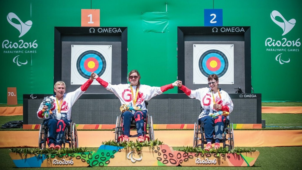 Great Britain claimed a clean sweep of the women's W1 Paralympic archery podium today ©World Archery
