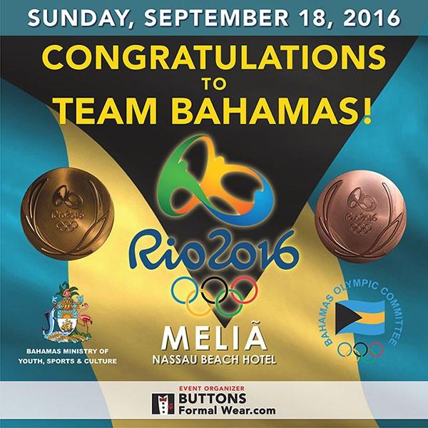 Bahamas Olympic Committee host celebration event for returning Rio 2016 athletes