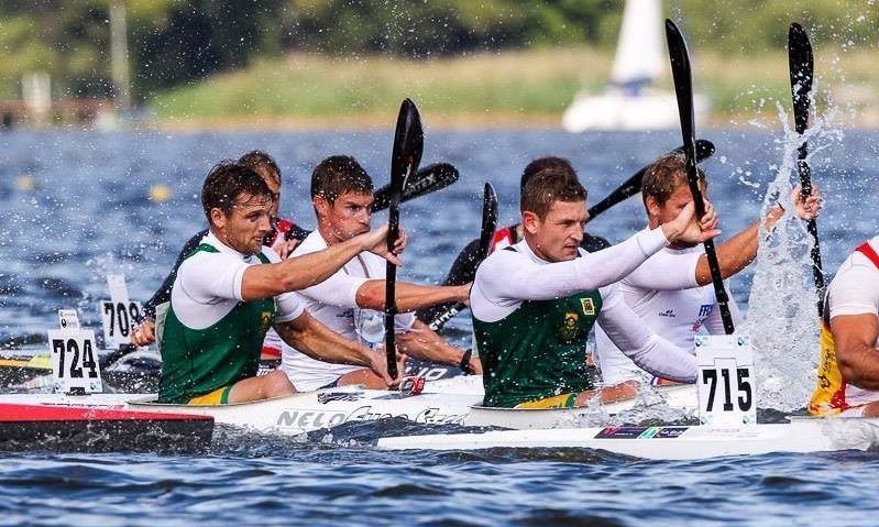 Hank McGregor (right) claimed another gold for South African in the K2 marathon event ©ICF